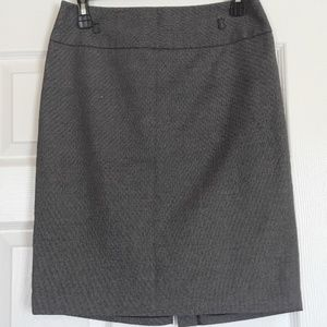 Charcoal Pencil Skirt (Lined)